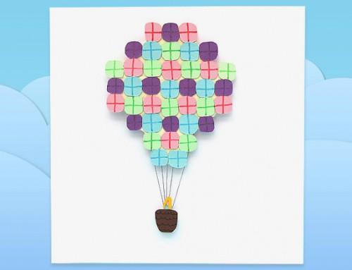 Air balloon present card