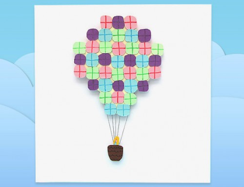 Air balloon present card