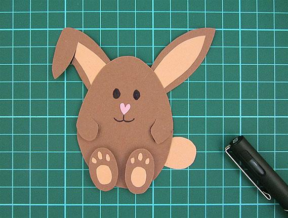 easter, bunny, egg, card, step 15
