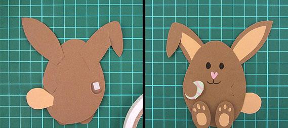 easter, bunny, egg, card, step 18