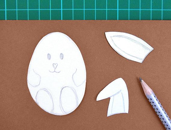 easter, bunny, egg, card, step 4
