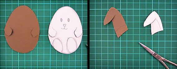 easter, bunny, egg, card, step 5