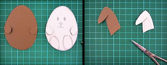 easter, bunny, egg, card, step 5