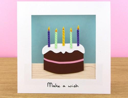 Chocolicious birthday cake card