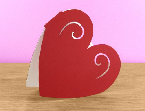 Heart-shaped card