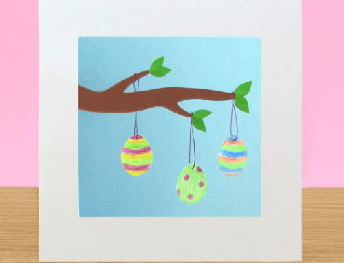 Easter egg tree card