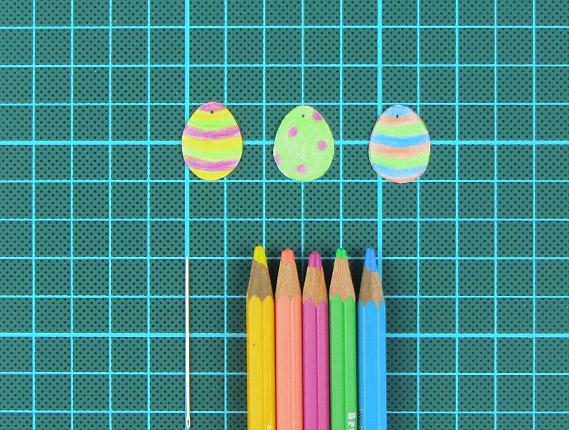 easter, egg, tree, card, step 9, 10