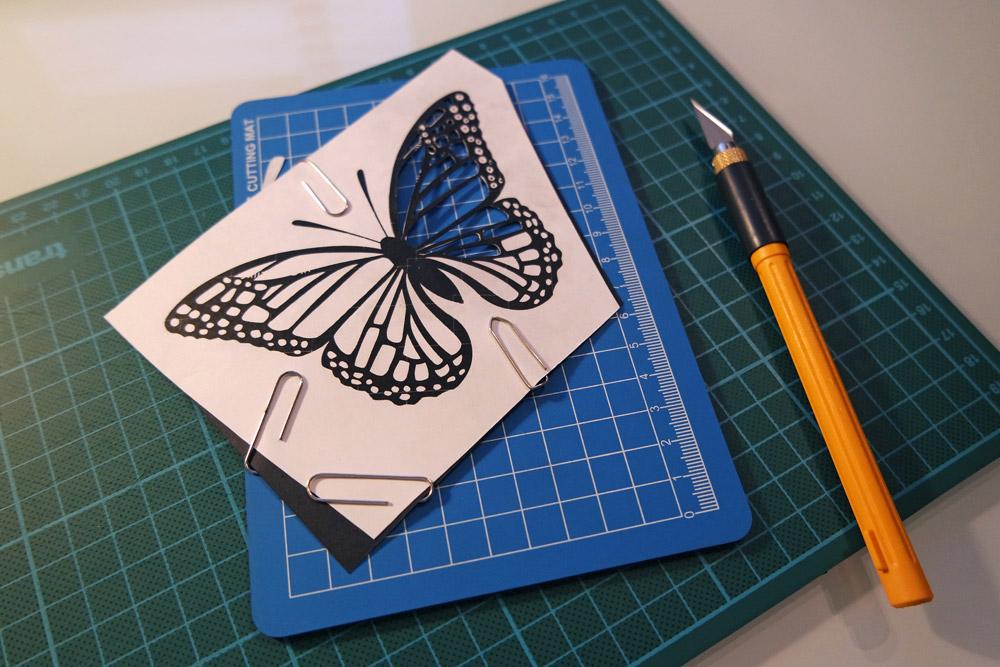 butterfly, papercut