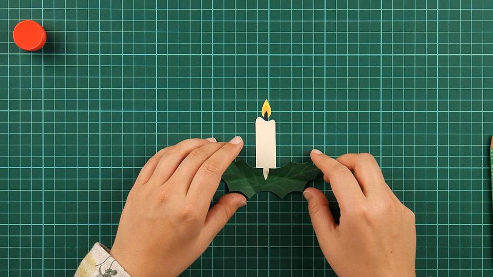 christmas,candle,card,step 10