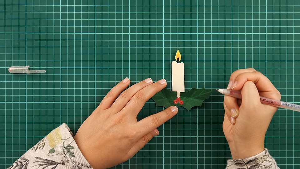 christmas,candle,card,step 14