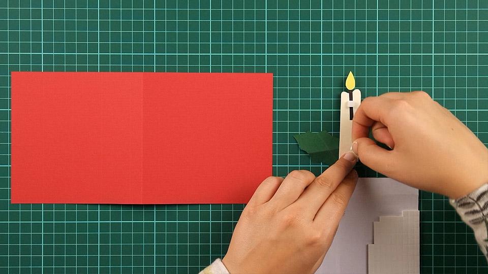 christmas,candle,card,step 15