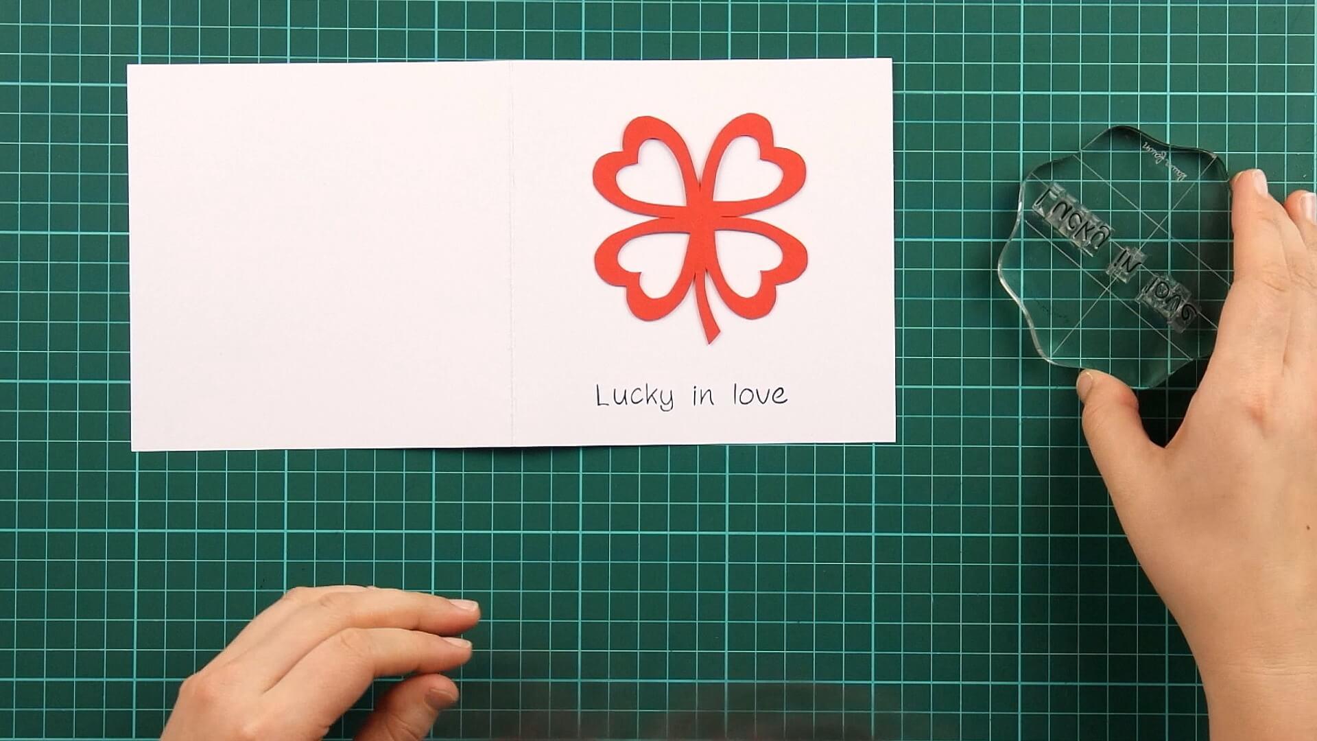 love, clover, card, tutorial step 14