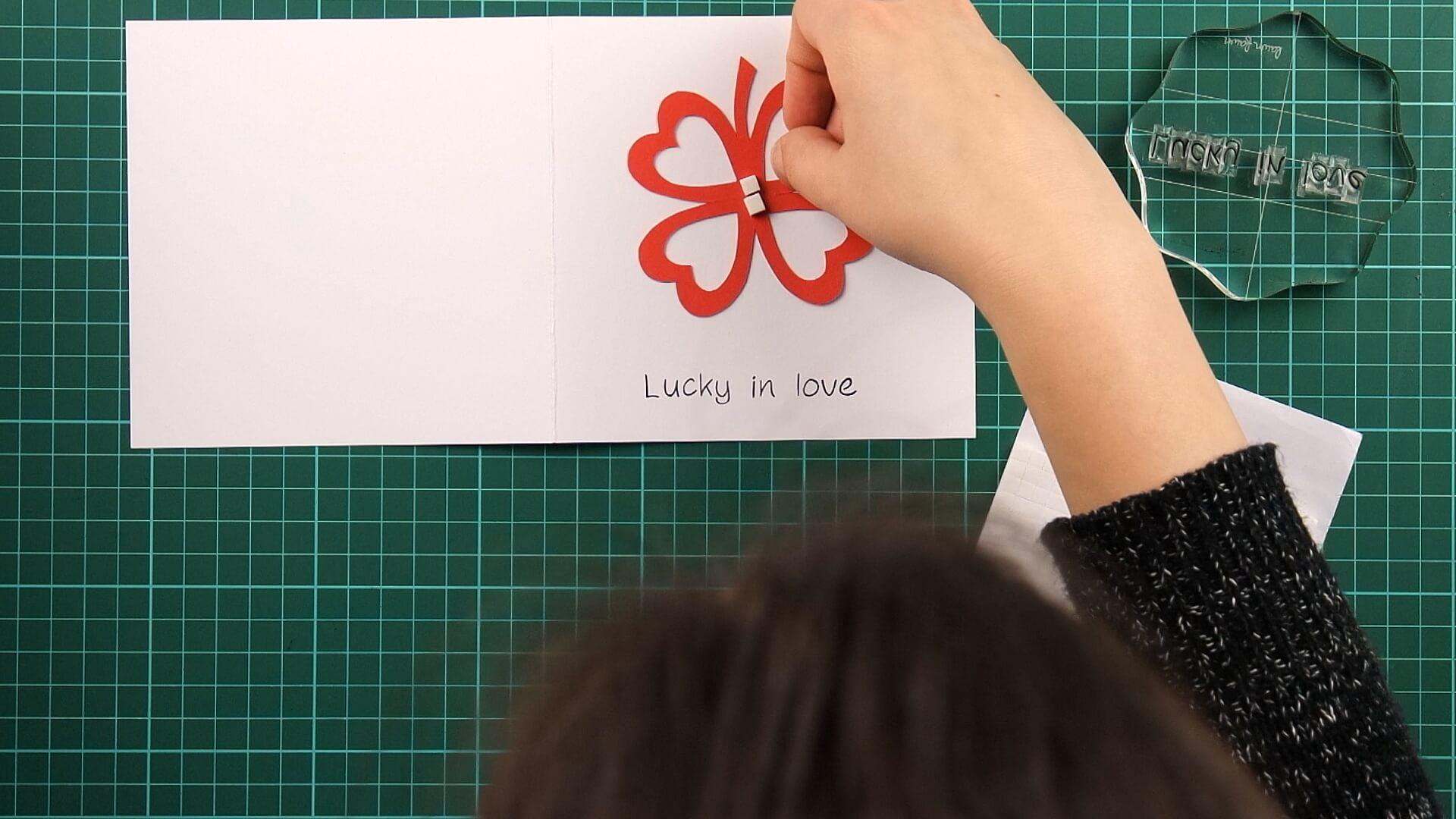 love, clover, card, tutorial step 15