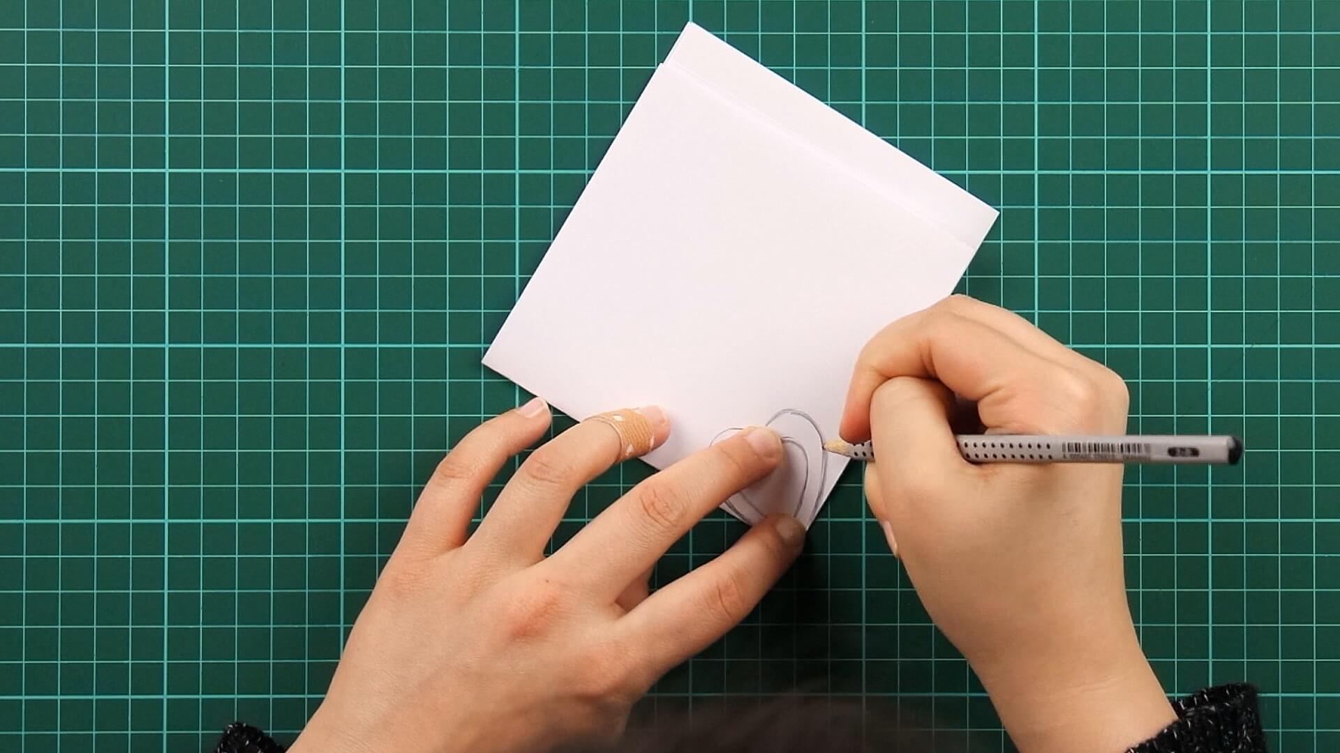 love, clover, card, tutorial step 5